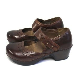 Dansko Women 8.5 9 Mary Jane Shoes Sandals Brown